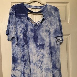 Tie dye fitted shirt